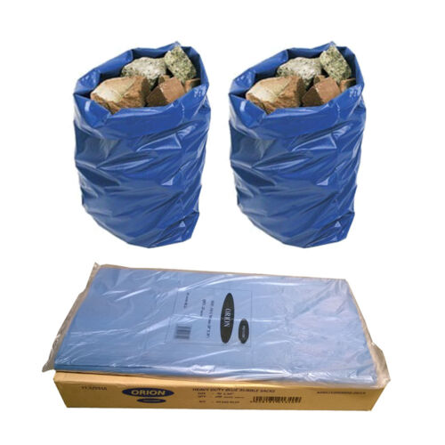 Blue Heavy Duty Strong Rubble Sacks Garden And Building Waste Refuse sacks Brick