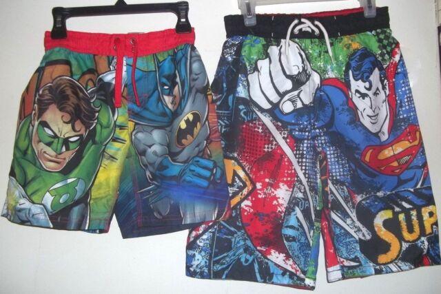 e9a8902eb4 Justice League Swim Shorts Trunks Size 4 5 6 7 Green Lantern Batman Superman