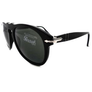 165f4e34e56e Image is loading Persol-Sunglasses-0649-95-31-Black-Green-Steve-