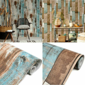 Vinyl-Rustic-Wood-Panel-Wallpaper-Self-Adhesive-Wall-Covering-Furniture-Stickers
