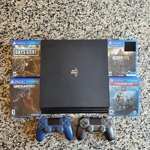 Sony-PlayStation-4-Pro-1TB-extra-controller-amp-4-games-PLEASE-READ-DESCRIPTION