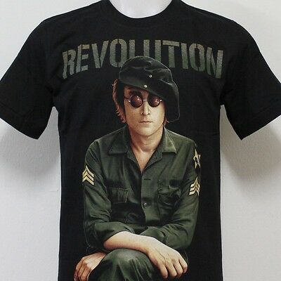 JOHN LENNON Revolution Beatles T-Shirt 100% Cotton New Size S M L XL 2XL 3XL