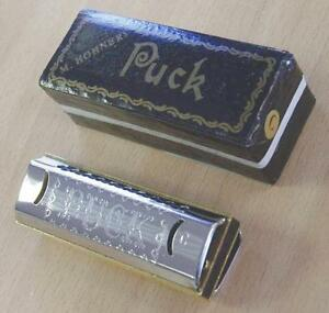 Harmonica-diatonique-Hohner-Puck-neuf-Do-C-Joli-musical-ideal-en-initiation
