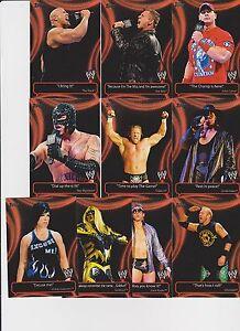 Detalles De 2011 Topps Wwe Catchy Frases Completo 10 Card Insert Set John Cena Undertaker