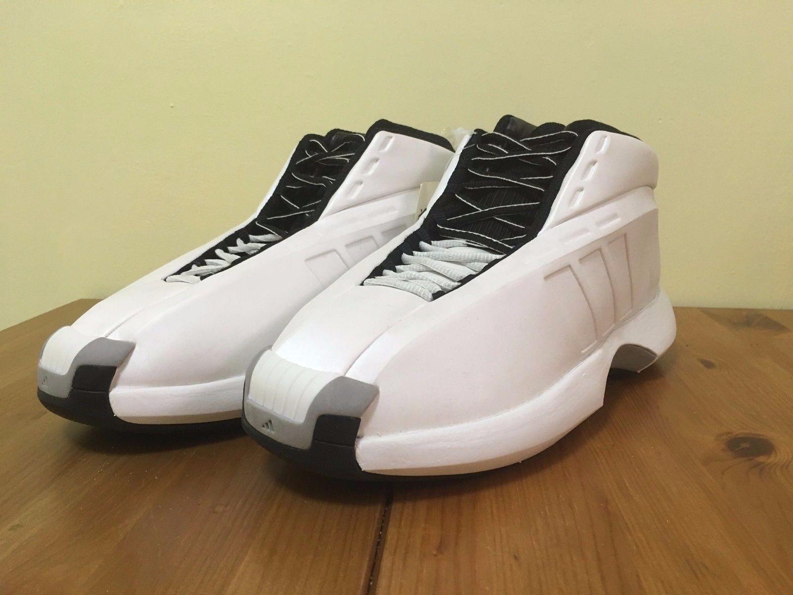 Adidas verrückt die kobe - größe 8 original box deadstock verrückt Adidas 1 2001 pearl Weiß 604e2a