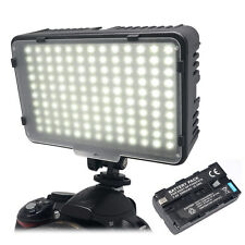 Mcoplus Camera LED Video Lighting for Canon Nikon Sony as CN-160+NP-F550 Battery