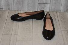 Walking Cradles Women's Blaire Ballet Flat 9.5 W Black Accordion Perfed Soft Maia