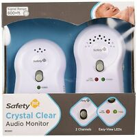 Safety 1st Crystal Clear Audio Monitor, White , New, Free Shipping on Sale