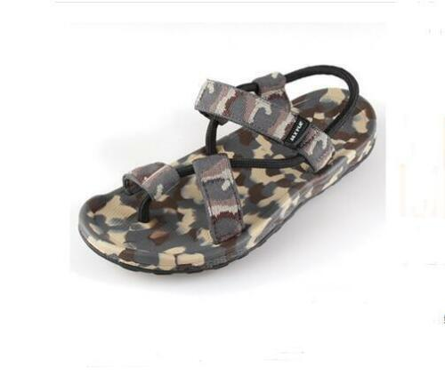 Summer Mens loafer camouflage toe ring strap beach slipper Casual sandals shoes
