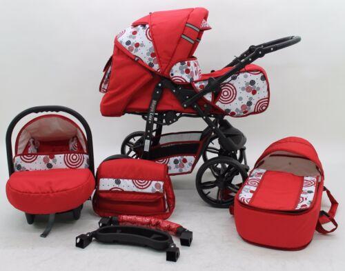 Pram Pushchair Maya Lux 3in1 Stroller Buggy Travel System Foam Wheels//Covers//Bag