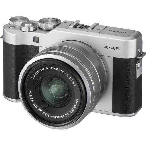Fujifilm X-a5 Appareil Photo Numérique + Argent Xc 15-45mm Objectif - Argent