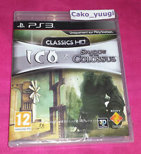 ICO & SHADOW OF THE COLOSSUS CLASSICS HD PS3 NEUF SOUS BLISTER VERSION FRANCAISE