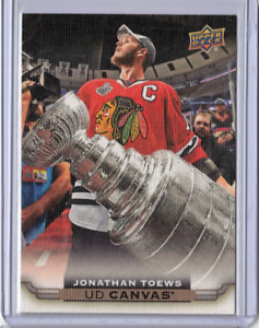 JONATHAN-TOEWS-15-16-Upper-Deck-UD-C19-19-Canvas-Insert-Hockey-Card-Stanley-Cup