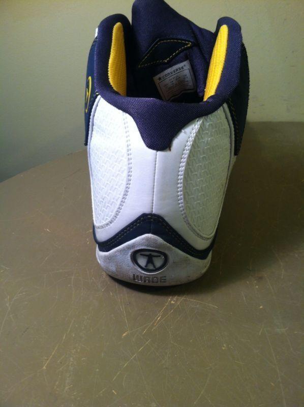 Converse 'WADE' 'WADE' 'WADE' Uomo Signature High-Top B-Ball scarpe da ginnastica scarpe sz 17 blu bianca 687ec7
