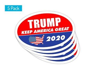 5-Pack-Oval-Car-Magnet-Trump-2020-Trump-Keep-America-Great-TO445