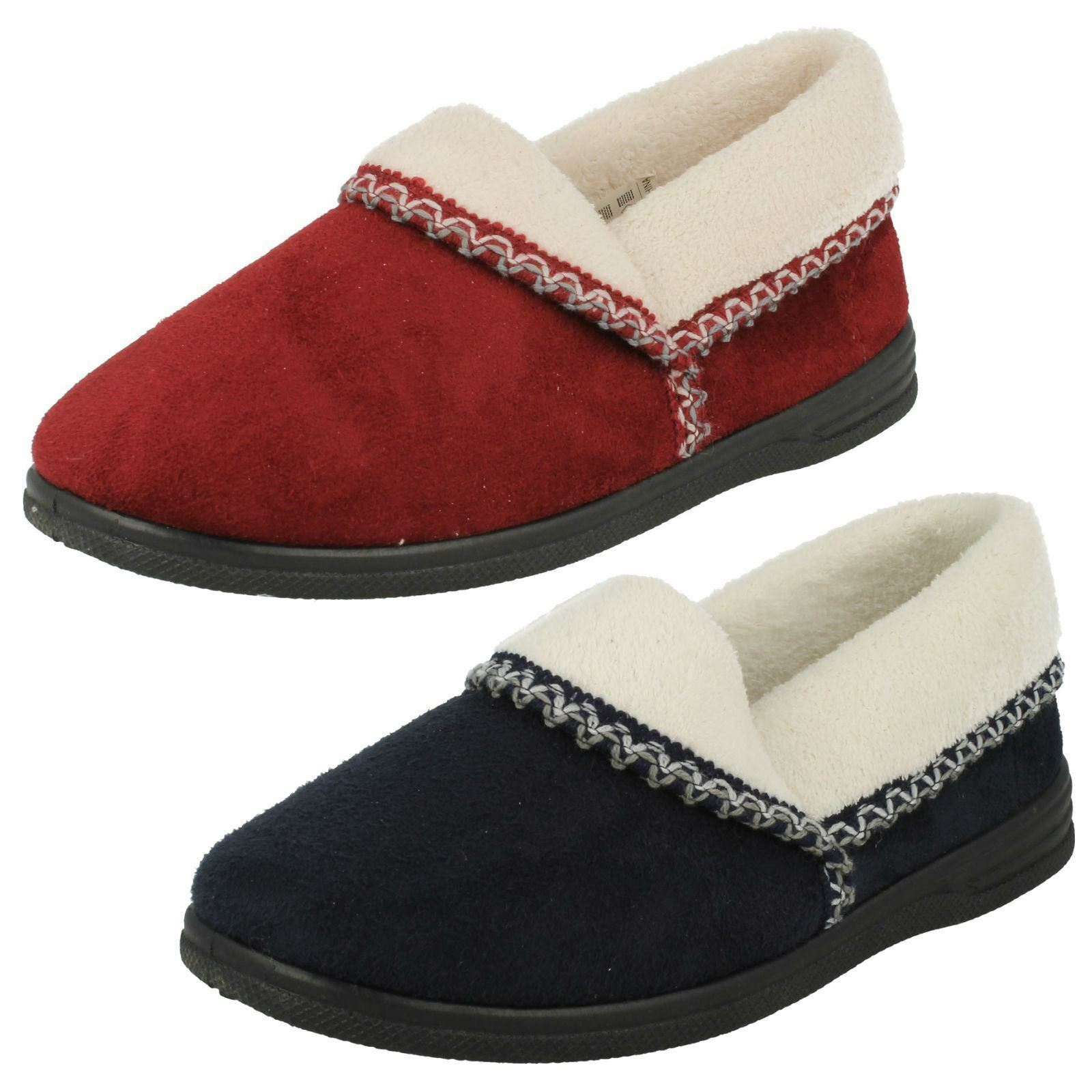 sale Ladies Ila Wine/Navy Textile Slippers by Sandpiper retail 12.99