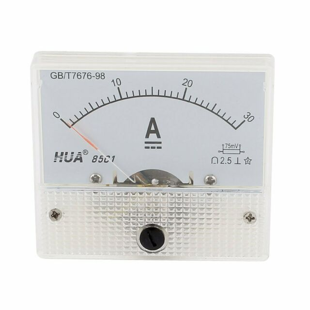 85c1 Analog Current Panel Meter Dc 30a Amp Ammeter