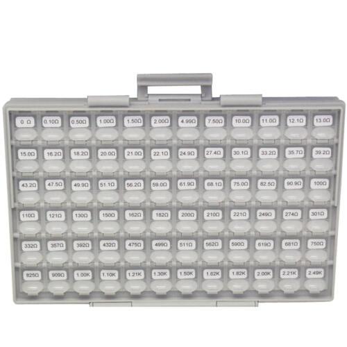 SMD SMT 1206 1/% resistor kit E96 144 value 100pc 14400pcs BOX-ALL Organizer