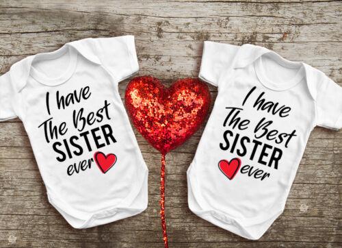 Tengo el mejor doble bebé crezca hermana Set para niñas gemelas monos babygrows