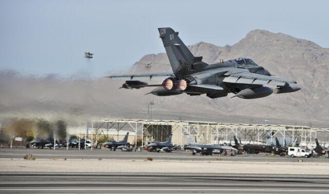 "Royal Air Force Tornado GR4 Fighter Aircraft Nellis Nevada USA RAF 12x8/"" Photo"