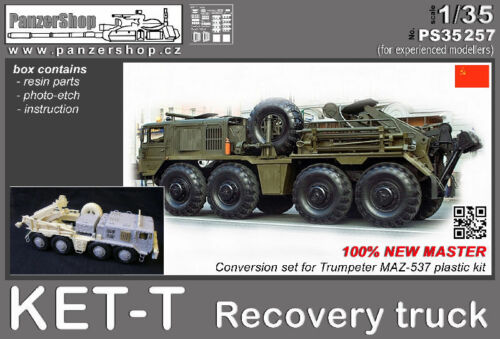 KET-T Recovery Truck CCCP resin conversion 1/35 PanzerShop Trumpeter PS35257