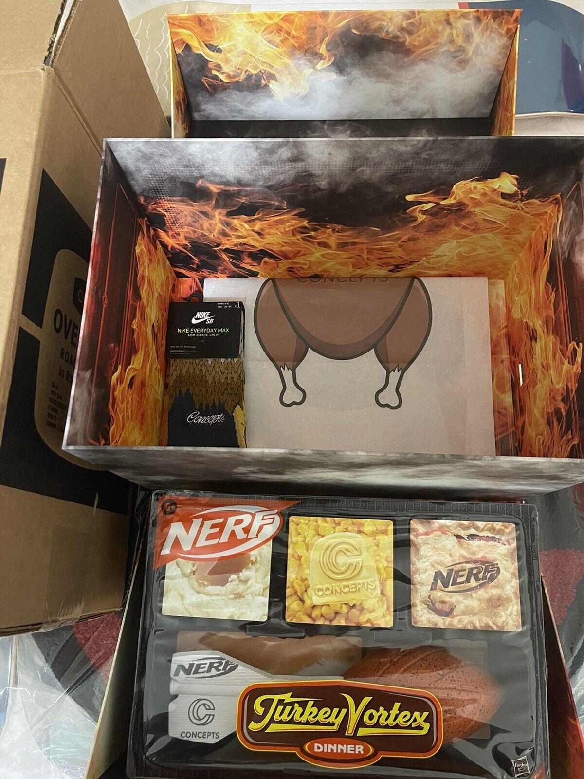 Nike SB Dunk High Concepts Turdunken Special Box ONLY Nerf Turkey Vortex Supreme