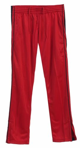 Athletic Sport Pants with Elastic Waist  Red//Black