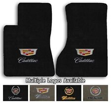 Cadillac Vehicles - Velourtex Carpet Front Floor Mats- Choice of Color & Logo