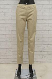 Pantalone-MAX-MARA-Donna-Taglia-36-Jeans-Pants-Woman-Cotone-Gamba-Dritta-Beige