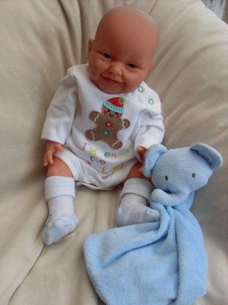 REBORN LIFELIKE LIFELIKE LIFELIKE ANATOMICALLY CORRECT 17 inch BOY DOLL HANDCRAFTED BY BELONIL... e62cdf