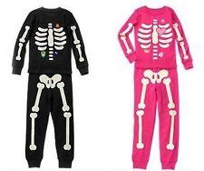 NWT Gymboree SKELETON Halloween Costume 2015 Pajamas/Gymmies Glow-In-The-Dark