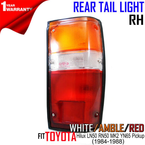 RIGHT SIDE CLEAR LENS TAIL LIGHT FOR TOYOTA HILUX MK3 LN85 1989-95 PICKUP TRUCK