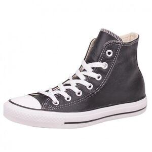 CONVERSE-CT-HI-nero-scarpe-sneaker-chuck-Chuck-nero-pelle-Classic-132170C