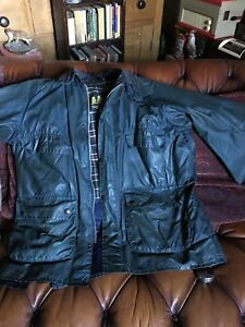 Barbour-Bedale-Jacket-Size-42-Chest-Blue