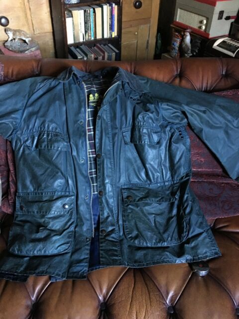 BARBOUR bedale giacca blu Taglia 42