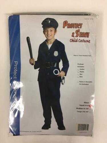 Child S,M,L Kids Policeman Costume Protect and Serve
