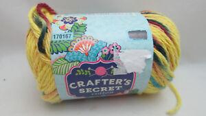 Detalles acerca de 1 madeja Crafters secreto hilado de algodón-amarillo de  impresión de #108- mostrar título original