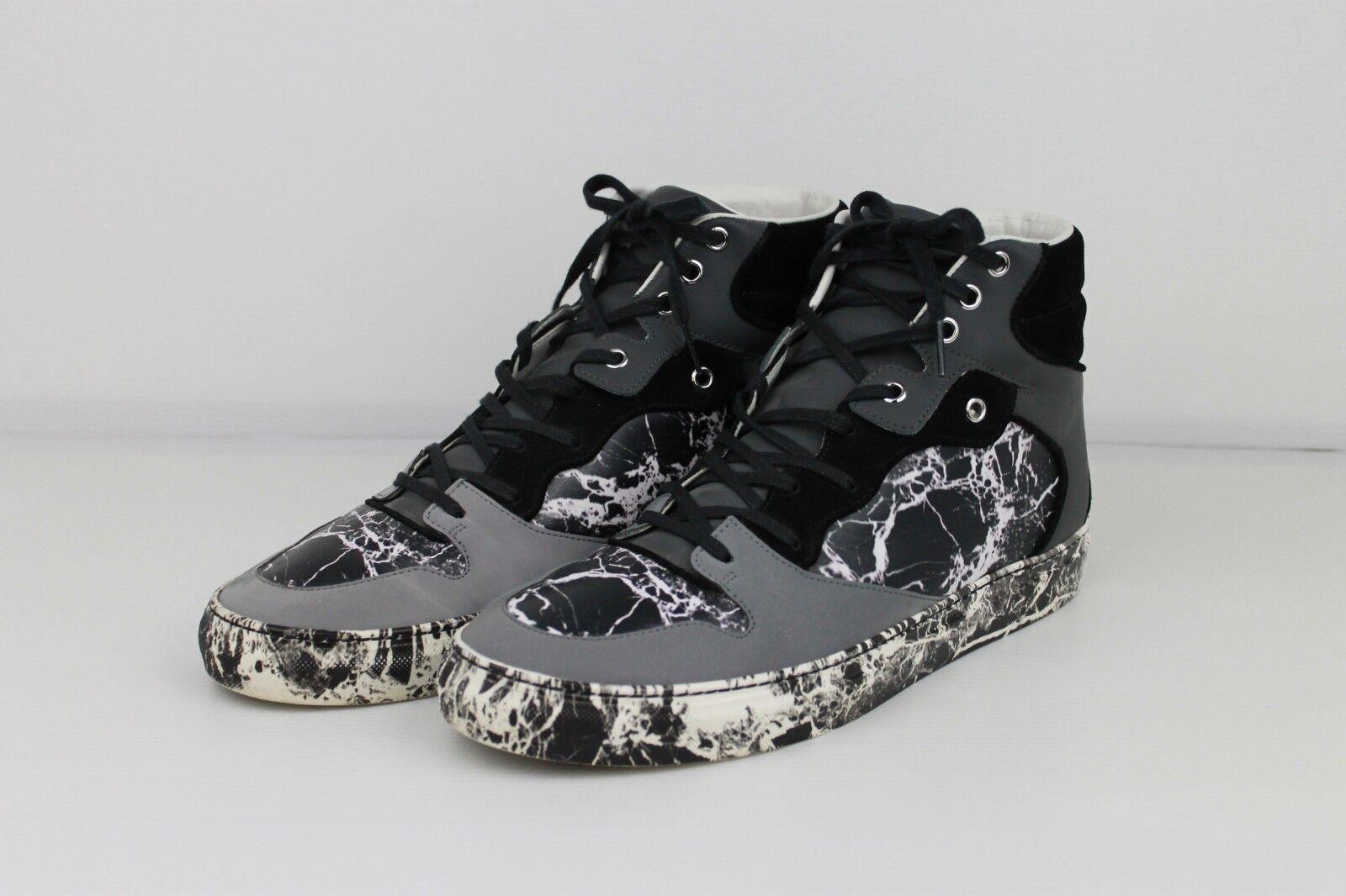 Balenciaga nero bianco HIGH TOP scarpe da ginnastica stampa di marmo, dimensioni  UK8 EU42.