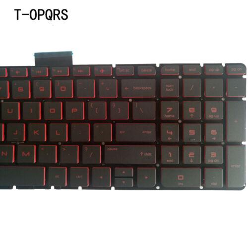 NEW laptop FOR HP 15-ax001la 15-ax002la 15-ax201la US Keyboard red backlight