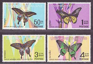 1968-Thailand-Stamp-Butterflies-First-Series-Complete-Set-Mint-Sc-509-12-MVLH