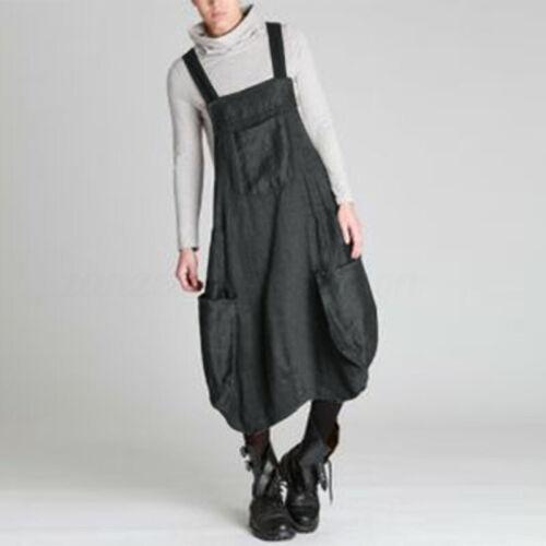ZANZEA Women Oversize Suspender Skirts Dress Plain Strappy Overalls Tank Dress