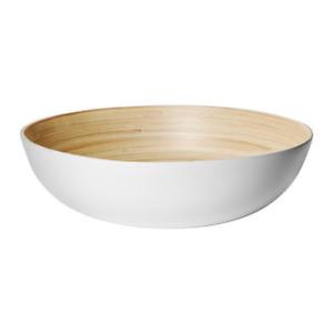 RUNDLIG-Serving-Bowl-White-Bamboo-White-NEW