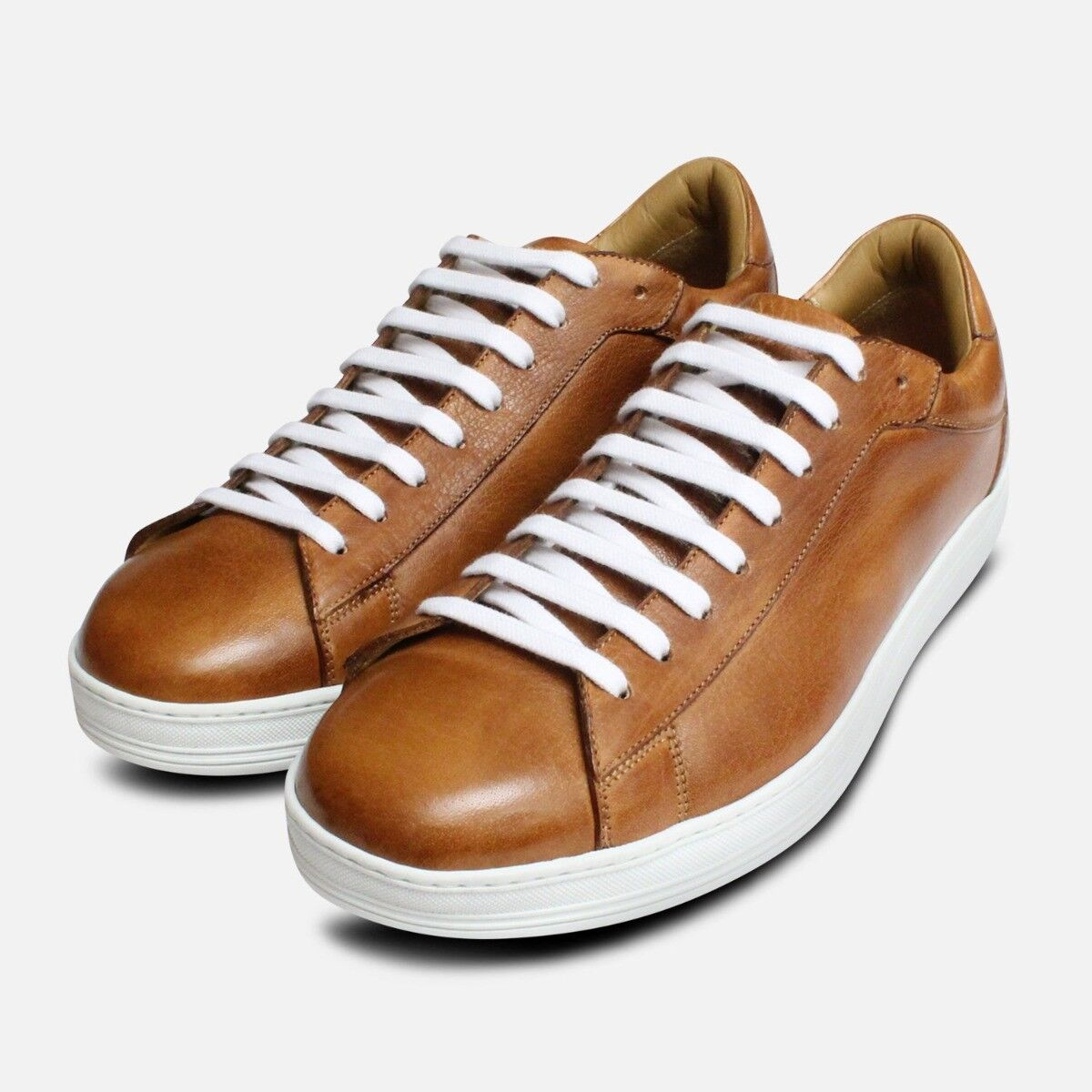 Luxury Buffalino Leather Design Sneakers