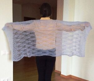 RUSSIAN-HANDMADE-KNITTED-WOMEN-S-SHAWL-SCARF-WRAP-SOUTH-AFRICA-MOHAIR-LANTA-NEW