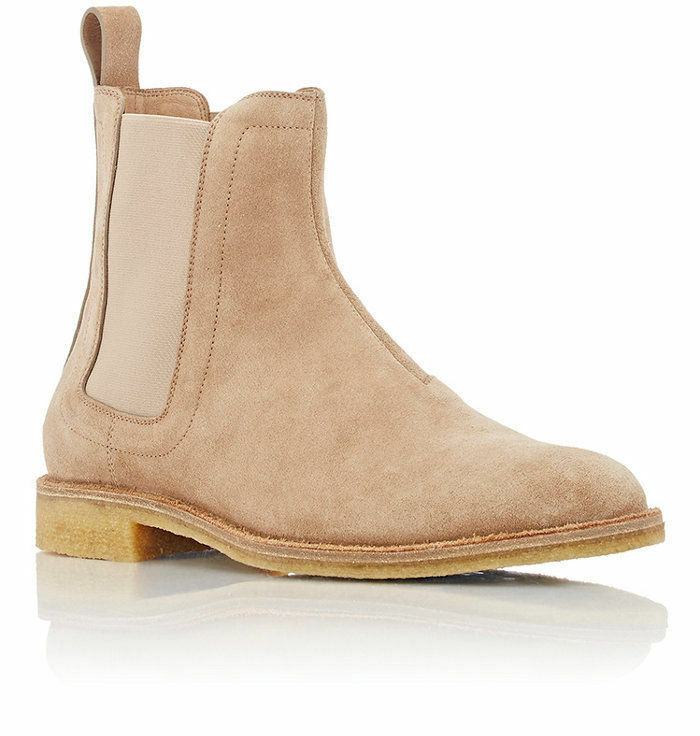 New Handmade Mens Beige Chelsea Suede Leather Stiefel, suede Stiefel crepe sole