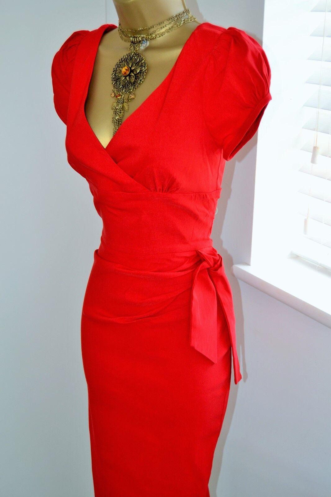 ⭐️ Butterfliesbuttercups ⭐️ Felicity Diva Dress Size 12 Red Marilyn Wiggle