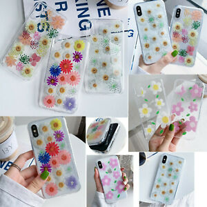 For-iPhone-11-Pro-X-XS-MAX-XR-Samsung-Huawei-Phones-Glitter-Daisy-TPU-Case-Cover