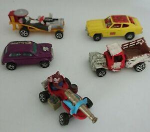 CORGI-JUNIORS-x-5-Toms-Go-Cat-JERRY-039-S-BANGHER-Mini-Cooper-FORD-DRAGSTER-camion