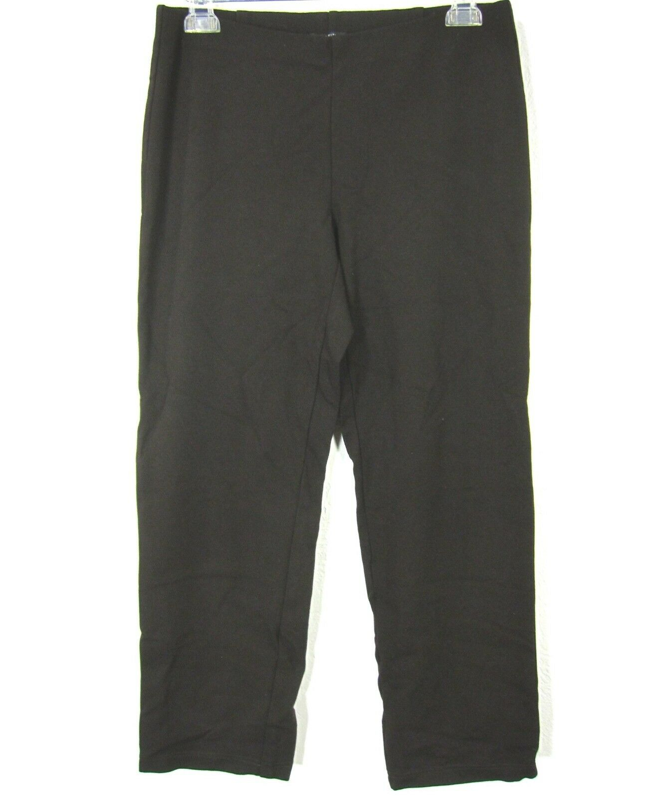 EILEEN FISHER Elastic Waist Pant Size S Small Solid Brown Casual Comfort