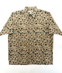 Tori-Richard-Men-s-Large-Multi-Color-Cotton-Lawn-Honolulu-Button-Up-Shirt